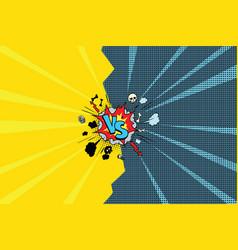 vs versus comic pop art vector image vector image