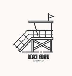 beach guard logo template vector image