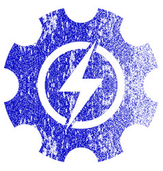 Electric power cog gear textured icon vector