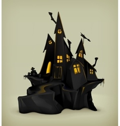 Halloween witch castle vector image