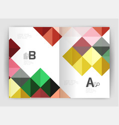 minimalistic square brochure or leaflet business vector image vector image