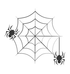 monochrome background halloween and spiders vector image vector image