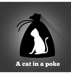 A cat in a poke vector