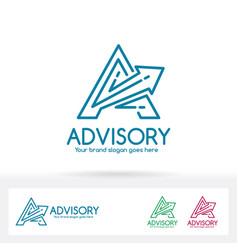advisory letter a logo vector image