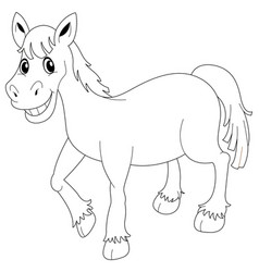 Animal outline for horse vector