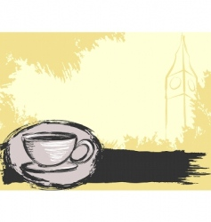 Big Ben background vector image