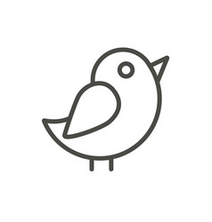 bird icon outline chicken line dove symbo vector image