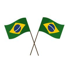 Brazil flags tilted vector