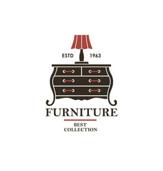 cabinet furniture label vector image