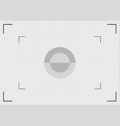 camera viewfinder focusing screen of the camera vector image