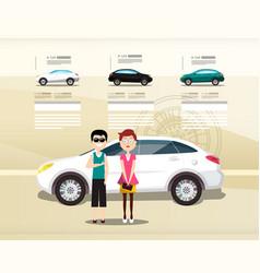car dealer web design presentation cars with vector image