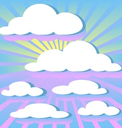 Clouds and rays of the sun vector
