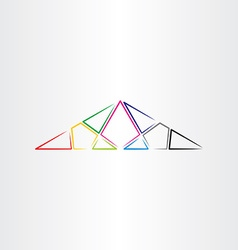 colorful triangle background design element vector image