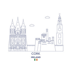 cork city skyline vector image