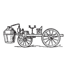 Cugnot steam car vector