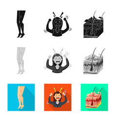 Design medical and pain icon set vector