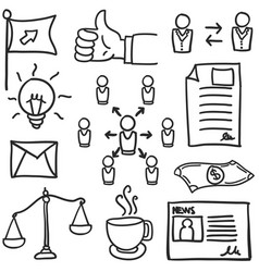 Doodle of object business various vector