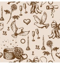 Doodle Valentine pattern vector