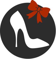 elegant women high heel shoe isolated vector image