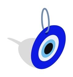 Evil eye turkish amulet icon isometric 3d style vector