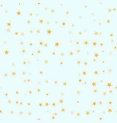 falling star seamless pattern yellow random rotat vector image
