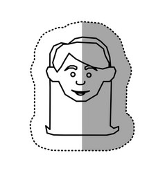 Figure face happy woman icon vector
