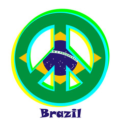 Flag of brazil as a sign of pacifism vector