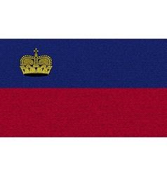 Flags Liechtenstein on denim texture vector image