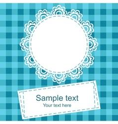 Framework for invitation or congratulation vector image