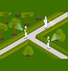 garden pest control composition vector image