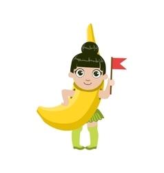 Girl Dressed As Banana vector