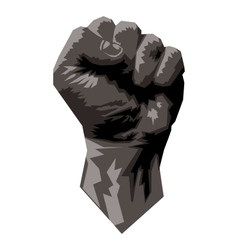 Gray Scale Fist vector image