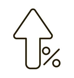 growing arrow percent money business financial vector image