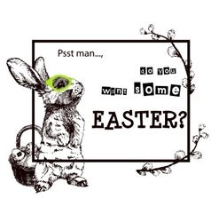 Happy Easter Hand vector