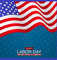 happy labor day usa flag united states holiday vector image