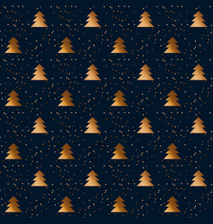 happy new year and xmas seamless pattern vector image