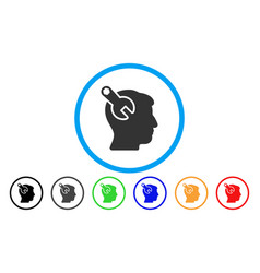Head neurology wrench rounded icon vector