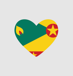 Heart of the colors of the flag of grenada vector