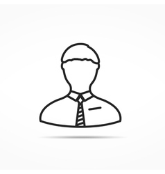 human line icon vector image