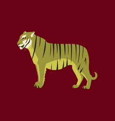 in flat style tiger vector image