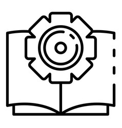 Interactive book learning icon outline style vector