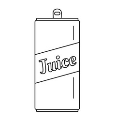 juice can icon outline style vector image