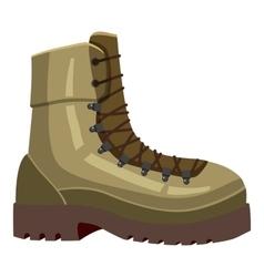 Khaki boot icon cartoon style vector