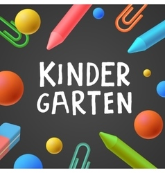Kindergarten preschool background vector