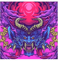 king devil head mascot logo vector image