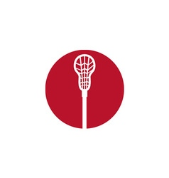 Lacrosse Stick Circle Icon vector image