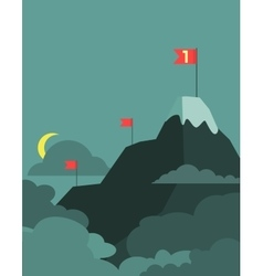 Leadership concept with mountain landscape vector