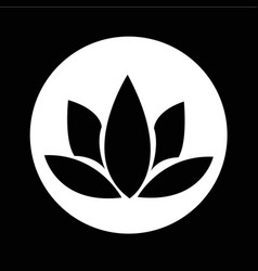 lotus icon design vector image