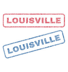 Louisville textile stamps vector