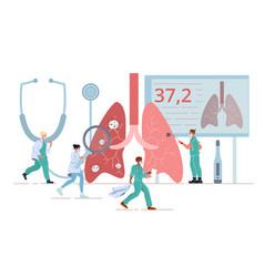 Lung health disease diagnosis illness treatment vector